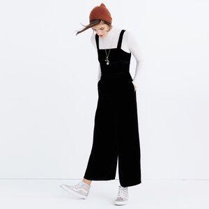 Madewell Crushed Velvet Jumpsuit in Black 8